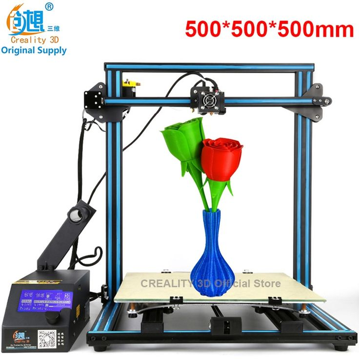 (1099.12$)  Know more - http://aiwne.worlditems.win/all/product.php?id=32803679059 - 7th Anniversary Sale CREALITY 3D Large 3D Printer Size 500*500*500mm DIY Kit Aluminum Heated Bed+Borosilicate Glass Plate