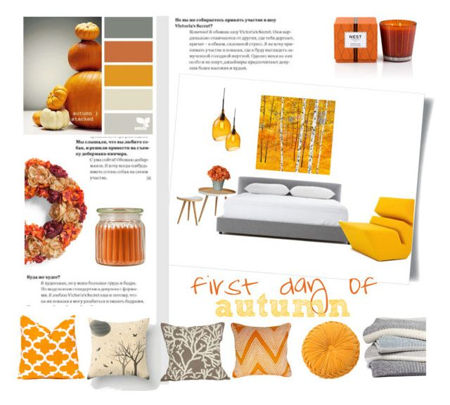 first day of autumn by levai-magdolna on Polyvore featuring interior, interiors, interior design, home, home decor, interior decorating, Nolen Niu, &Tradition, Barefoot Dreams and Nest Fragrances