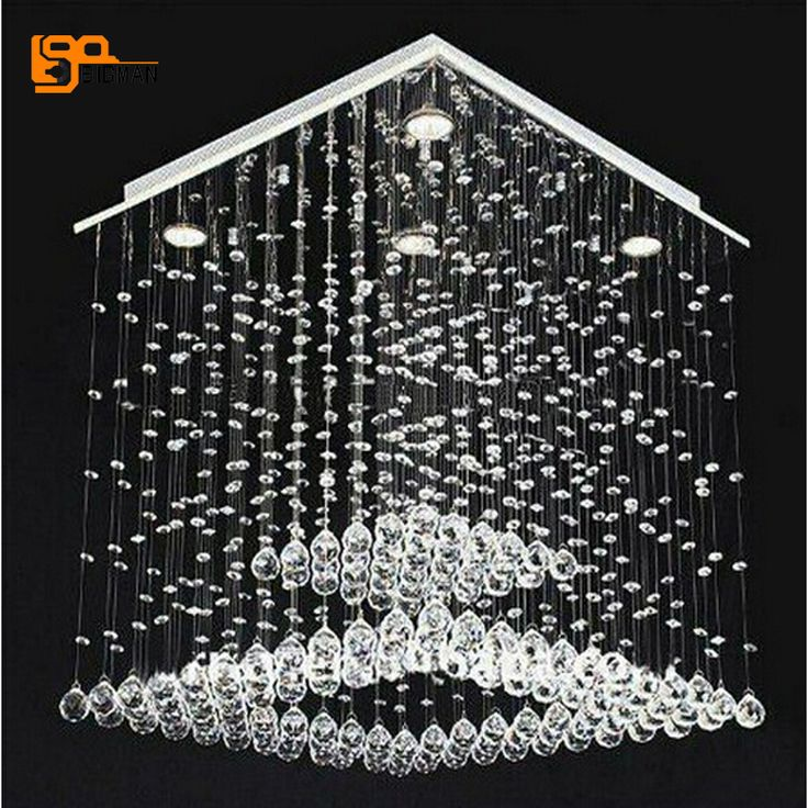 New modern crystal chandelier lamparas de cristal Dia50*H80cm lustres dinning room chandelier LED lights
