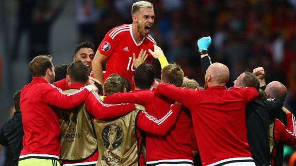 Aaron Ramsay a fost decisiv pentru calificarea galezilor în semifinale