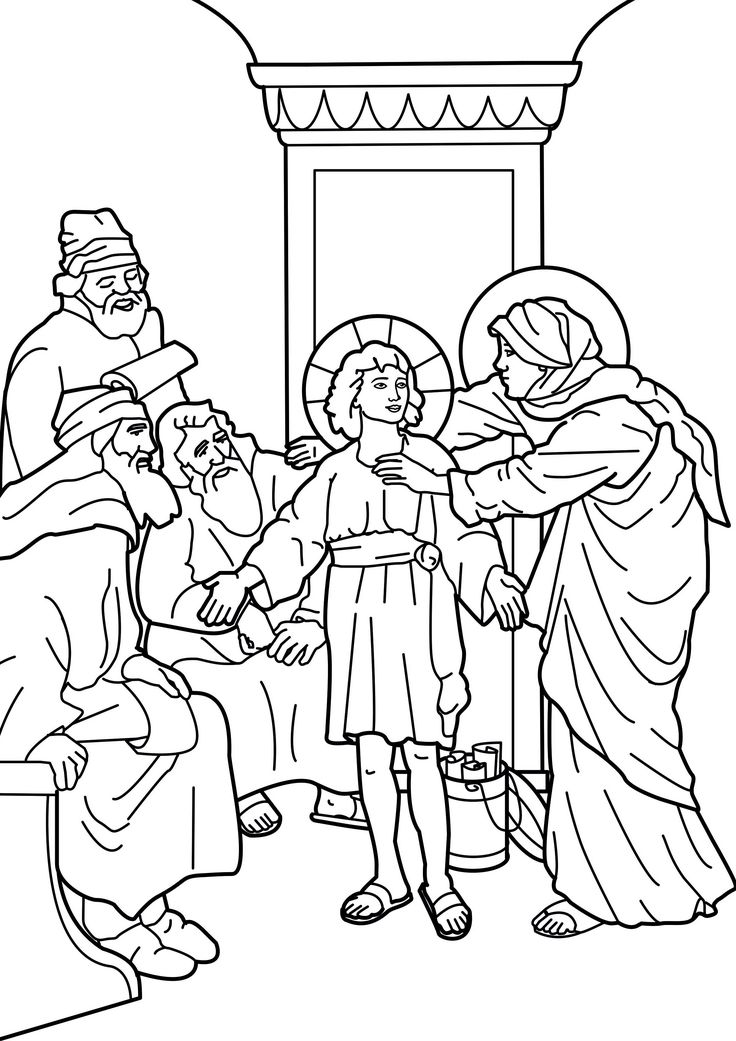 Jesus in the temple coloring pages ~ The boy Jesus in the temple catholic coloring page ...