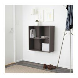 IKEA - EKET, Cabinet with 4 compartments, orange, , A simple unit can be enough storage for a limited space or the foundation for a larger storage solution if your needs change.You can choose to place the cabinet on the floor or mount it on the wall to free up floor space.Assembly is quick and easy, thanks to the wedge dowel that clicks into the pre-drilled holes.