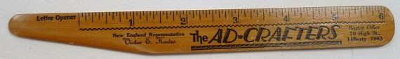 Ad Crafters vintage advertising  pocket ruler by AbbysTreasures