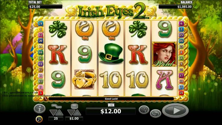The leprechauns, the clover, pots of gold all bring great #luck of #fortune. Play Irish Eyes 2 slots at Monster Casino with a sign up bonus of £5. Join now.