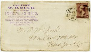 Free Vintage Image ~ Envelope Postmarked 1887 (front and back included in blog post)
