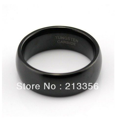 CHEAP PRICE PROMOTION! FREE SHIPPING!USA HOT SELLING E&C JEWELRY SHINY New BLACK MIRROR WOMEN&MENS TUNGSTEN CARBIDE WEDDING RING