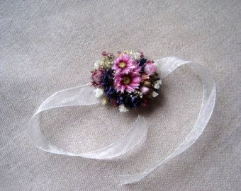 Bloem pols corsage bruids armband bruidsmeisjes door SERENlTY