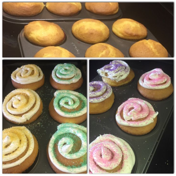 Yummy homemade vanilla cupcakes with colourful sugar sprinkle topping! Delicioussss