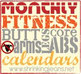 Shrinking Jeans Monthly Fitness Calendars