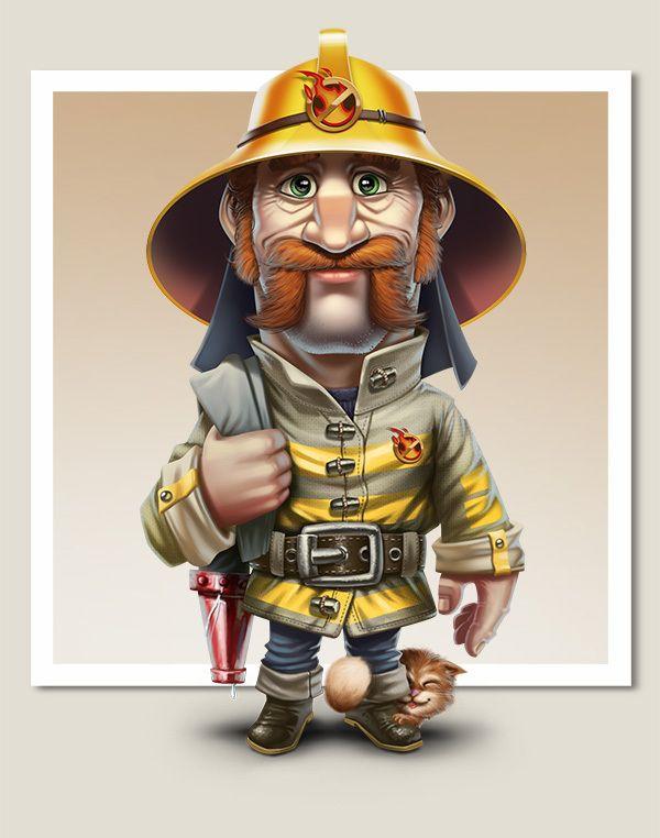 Best-Lock characters by Goga Djalagania, via Behance