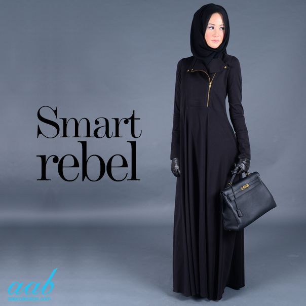 Fashion's coolest fabric continues its style evolution.. Aab's Kawasaki Abaya, inspired by the season's must-have piece : Biker's Jacket, is the ultimate 'elegance with an edge'.. SHOP NOW :http://www.aabcollection.com/shop/product/kawasaki-abaya/518