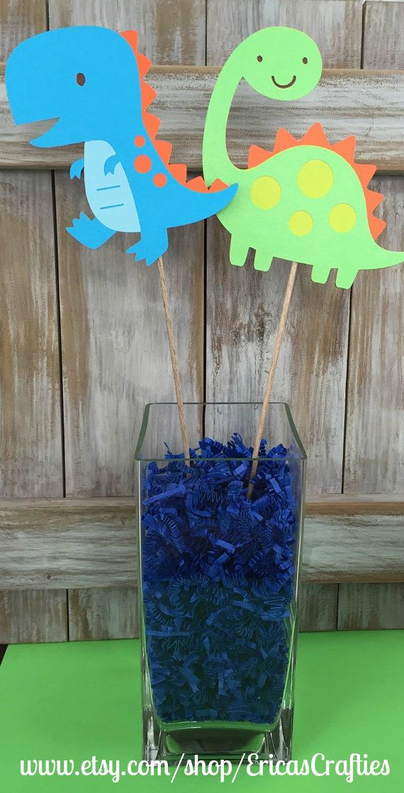 Dinosaur Centerpiece Boy Birthday Centerpiece by EricasCrafties