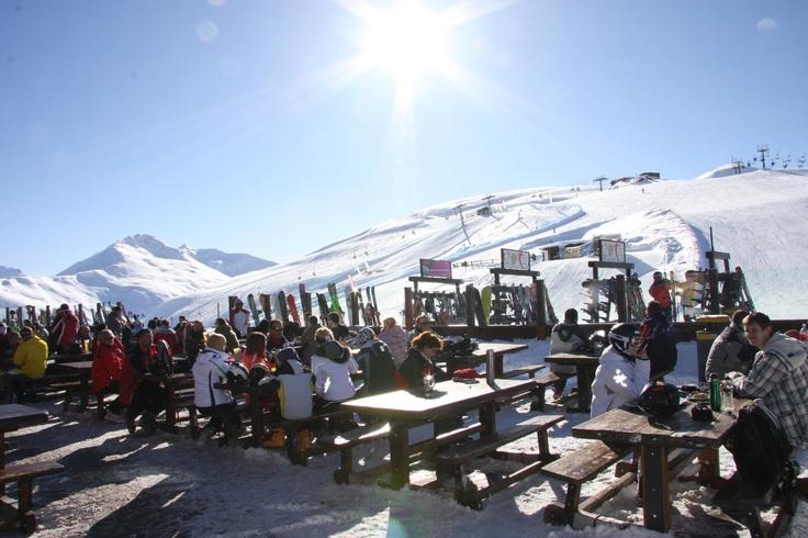Solarium at M'Eating Point in the Mottolino Ski Area!