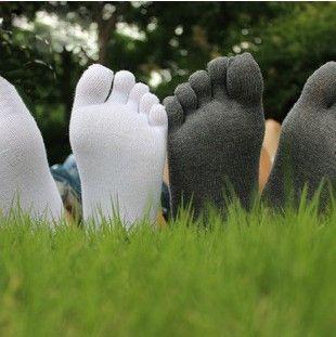 6Pair/Lot New Men's Socks Elite Cotton Meias Five Finger Socks Toe Sock For EU Calcetines Ankle Sock Drop Shipping N00038