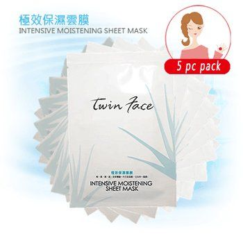 Twin Face - Intensive Moistening Facial Sheet Mask (5 sheets) ** See this great product. (This is an Amazon affiliate link)