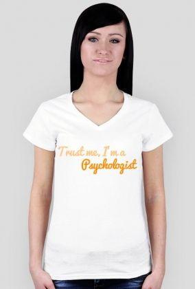 Trust me, I'm a psychologist - damska, pomarańczowa, 49,00 zł, #psychologia, #psychology, #psychopraca, #cupsell, #gifts, #prezenty, #trustme