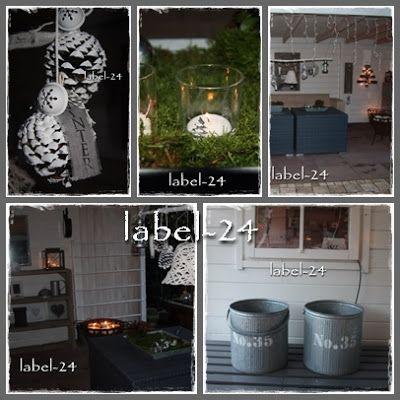 Label-24: Kerst thuis: 1. in de tuin /overkapping