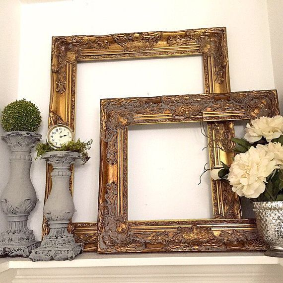 Create your own gallery wall Gold Baroque Wall Frame Large Decorative Shabby by HallstromHome