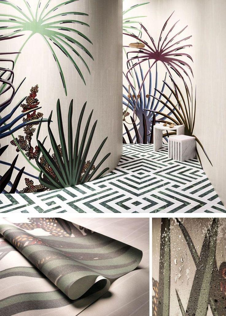 glamfusion die revolution der tapete f r badezimmer und. Black Bedroom Furniture Sets. Home Design Ideas