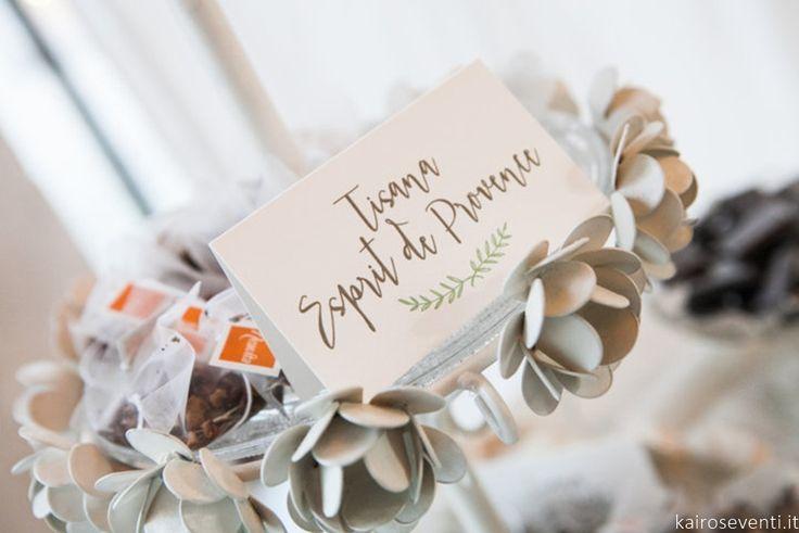"""L'angolo delle tisane ai sapori di Provence    Wedding designer & planner Monia Re -www.moniare.com   Organizzazione e pianificazione Kairòs Eventi -www.kairoseventi.it   Foto """"SpringRainStudio di Roberto Ricci"""""""