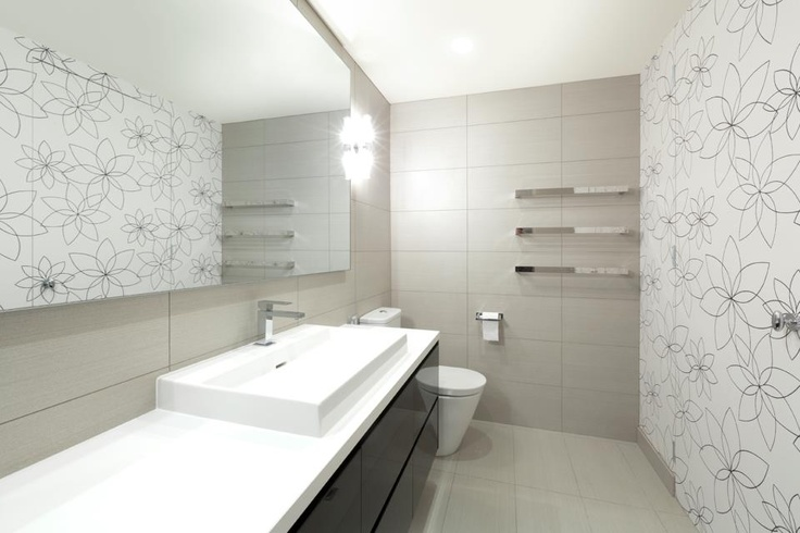 Wallpaper In This Gorgeous Port Melbourne Bathroom Looks Fabulous Pinned With Pinvolve