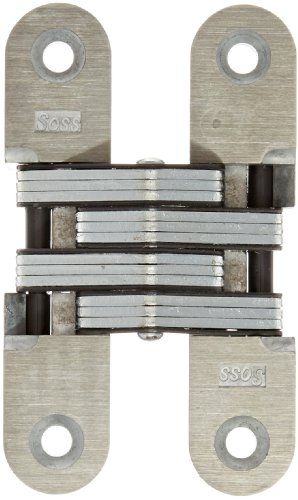 SOSS 216 Zinc Invisible Hinge with Holes for Wood or Metal Applications, Mortise Mounting, Unplated #deals