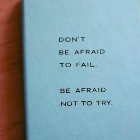 Micheal Jordan's quote in Fear of failure.