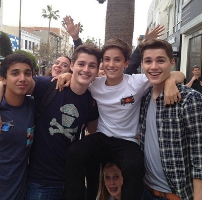 Teo Halm with the twins... THAT GIRL UNDER HIM THOUGH JUST MADE MY DAY