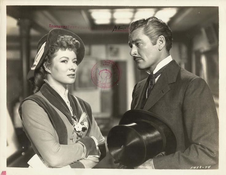 Greer Garson and Errol Flynn in That Forsyte Woman directed by Compton Bennett, 1949