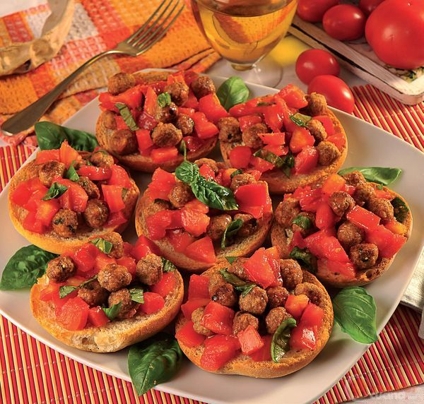 Friselle con polpettine e pomodori