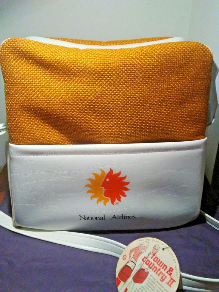 Vintage National Airlines Carry On Travel Bag Insulated 1950's