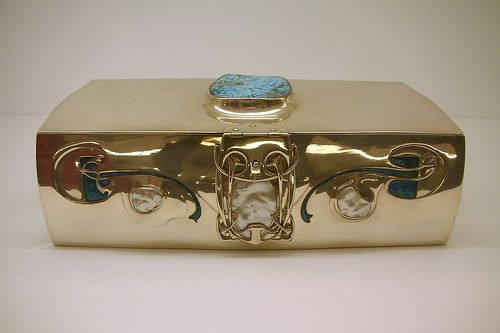 Art Nouveau Jewel Box by Archibald Knox,  1900.