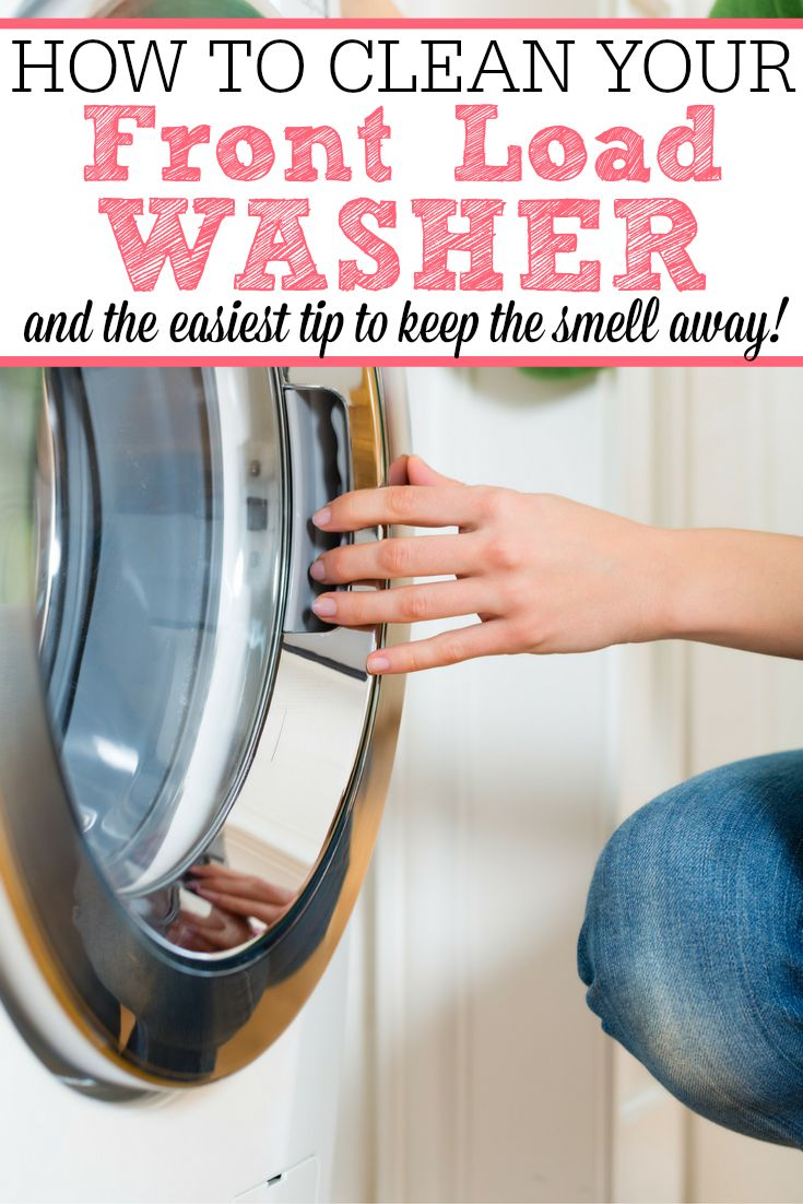 This is full of great tips for how to clean your front load washer. Plus the one EASIEST tip to keep it from smelling again!
