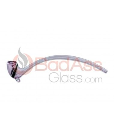 "Let's Smoke With This 12"" Pink Gandalf Glass Pipe."