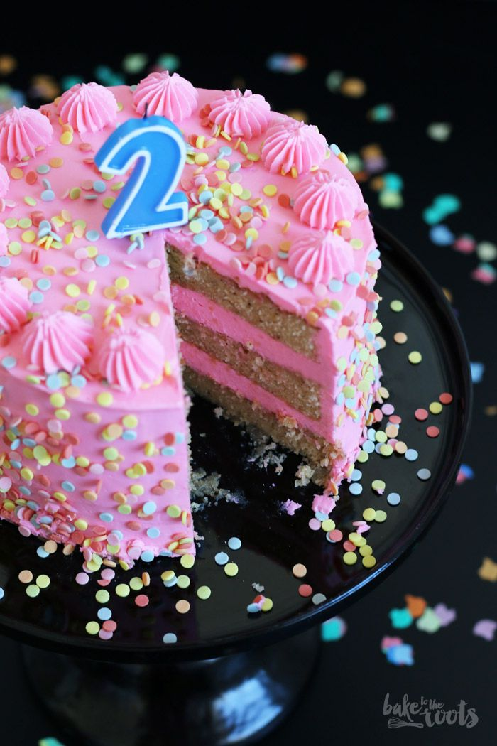 Birthday Cake with Marzipan | Bake to the roots