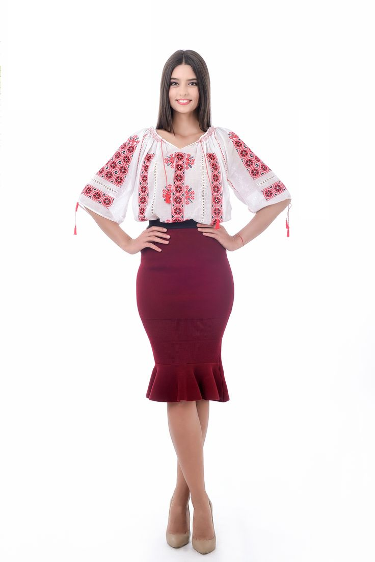 Wear it at your job! #romanianblouse