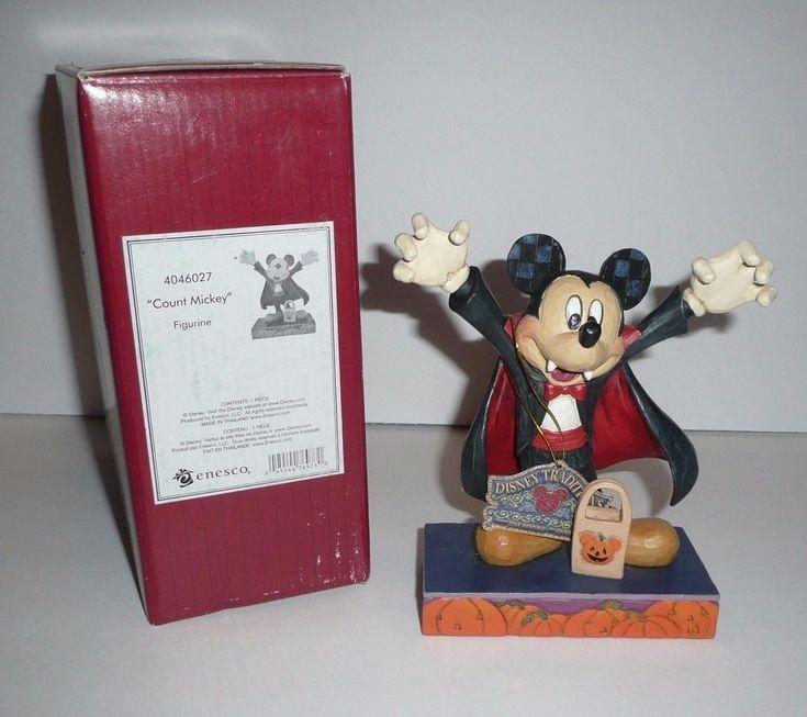 Jim Shore Disney Traditions Figurine Mickey Mouse Halloween Count Mickey Vampire #EnescoDisney