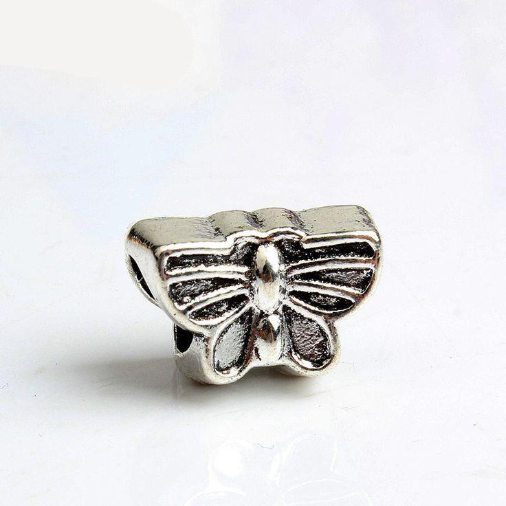 Free Shipping Sliver Bead Charm Lovely Butterfly Bracelet Accessories Beads Fit Pandora Bracelets & Bangles DIY Jewelry SPB800