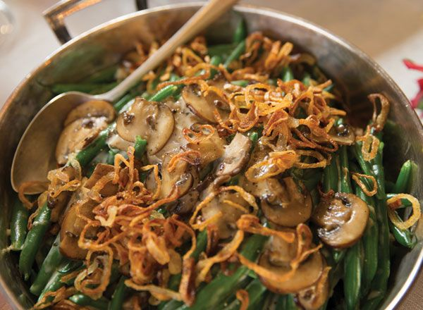 Green Bean Casserole with Crispy Onions from Publix Aprons