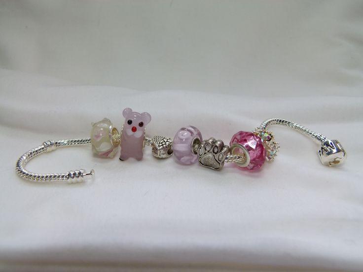 Beautiful Pandora style bracelet with beads