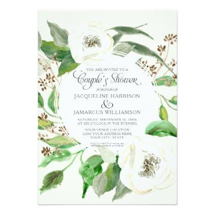 #invitations #wedding #bridalshower - #Couples Shower BOHO Eucalyptus Seed Wreath Foliage Card