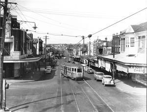 Tram in Victoria Avenue, Chatswood - 1950s