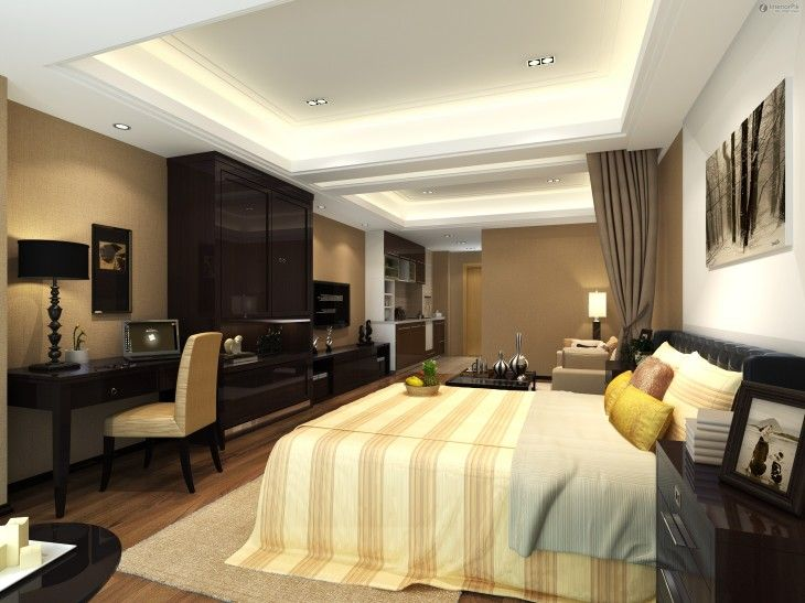 Interior Decorations In Vogue White False Bedroom Designs Ceiling Lighting - pictures, photos, images