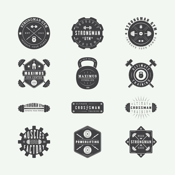 14 best gym logos images on pinterest fitness logo gym