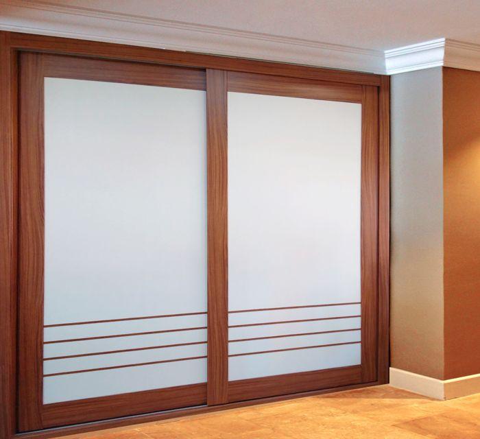 Las 25 mejores ideas sobre puertas corredizas de vidrio - Modelos de armarios empotrados ...