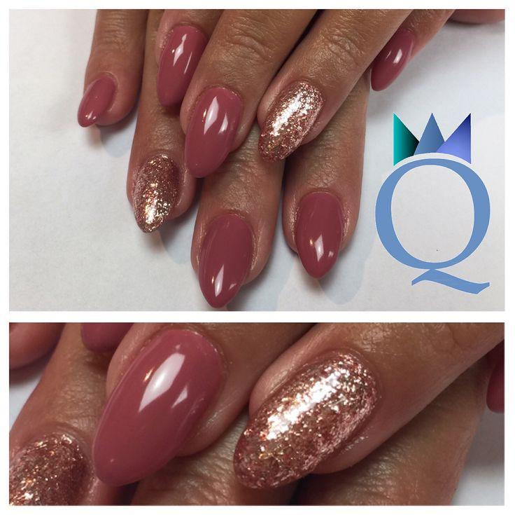 #almondnails #gelnails #nails #mauve #rosegold #mandelform #gelnägel #nägel #malve #roségold #nagelstudio #möhlin #nailqueen_janine