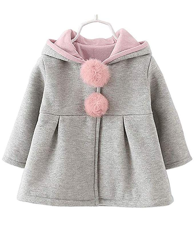a731ae506 Baby Girls Toddler Kids Winter Big Ears Hoodie Jackets Outerwear ...