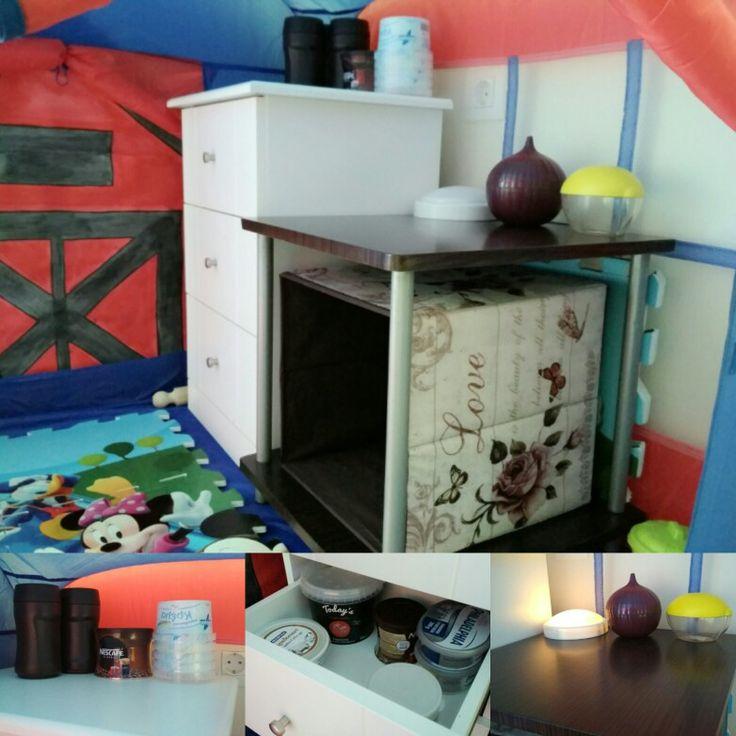 Παιδική κουζίνα 🗄️️ με πράγματα μέσα από το σπίτι (playroom 🏠👪)