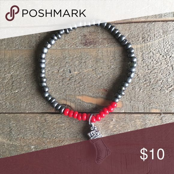 ⛄️3 for $25⛄️ Red & Silver Stocking Bracelet I made this