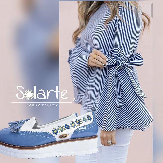 Mocassin Campana azul.¡¡¡ 🍀El outfit es una referencia. No vendemos vestuario.  #embroidery #embroideryshoes #bordadossolarte  $100.000. PIDELOS al wha 3007830222.  🍀🌷 SUELA PLATAFORMA 4CM.  Ref #zoomcampanabordada  #glamouratuspiessolarte 🐺   #modaetica   #crueltyfree